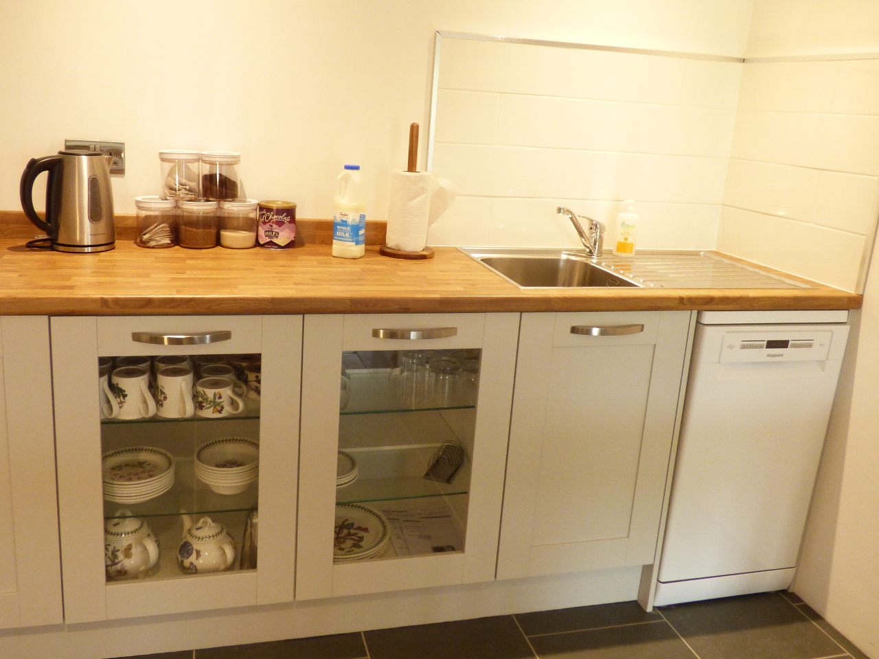 kitchenette with dishwasher